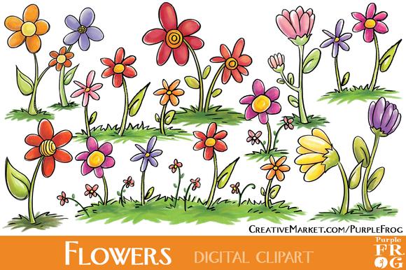 FLOWERS Digital Clipart