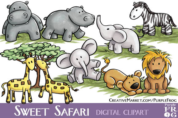 SWEET SAFARI Digital Clipart