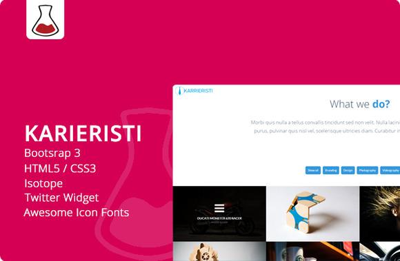 Karieristi Onepage Bootstrap 3