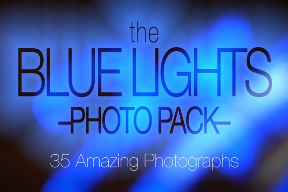 Blue Lights Photo Pack