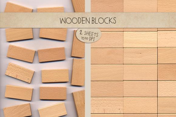 Wooden Blocks Toys Texture
