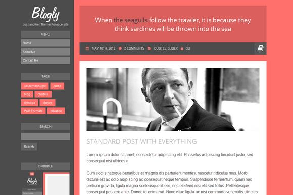 Blogly Flat Responsive Blog Theme