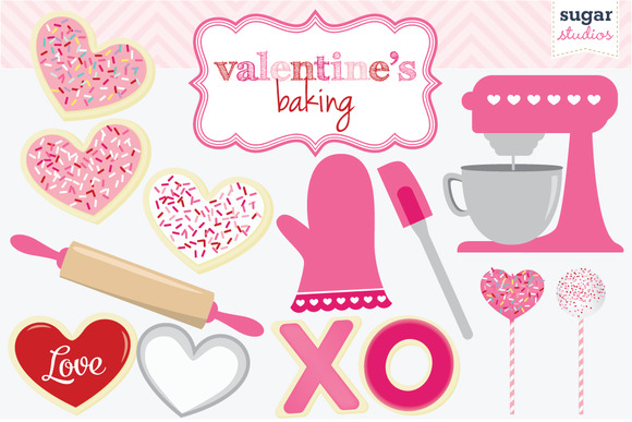 Valentine S Baking Digital Clipart