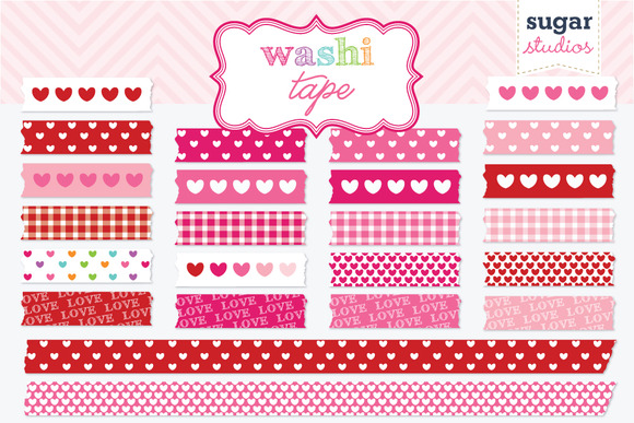 Valentine S Day Hearts Washi Tape