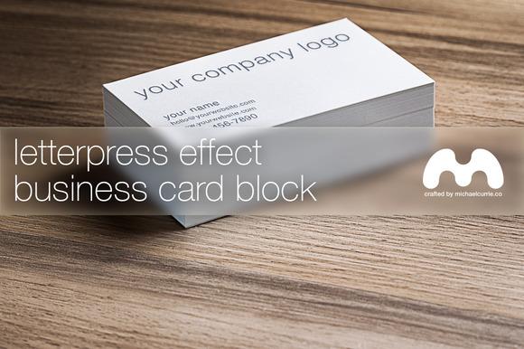 Letterpress Business Card Block