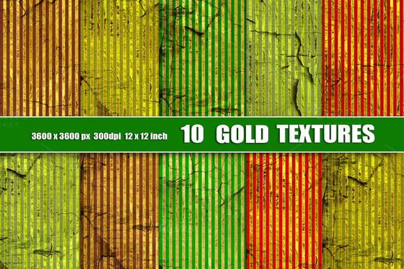 Gold Stripes Texture Red Green