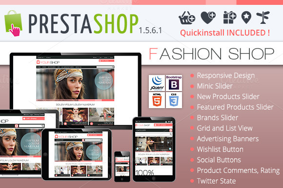 Prestashop 1.5.6.1 Fashionshop Theme