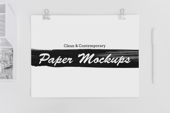 8 Clean Contemporary Paper Mockups