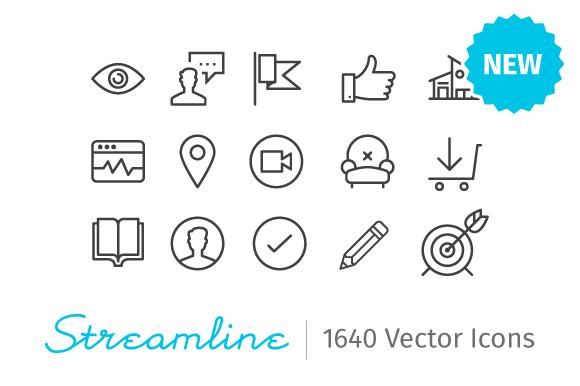 Streamline Icons 1640 Icons
