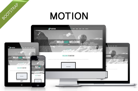 Motion Clean Bootstrap Theme