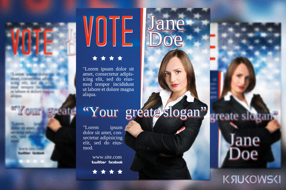 election campaign flyer template designtube creative