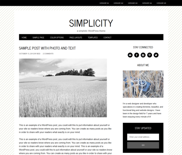Simplicity A Simplistic Theme