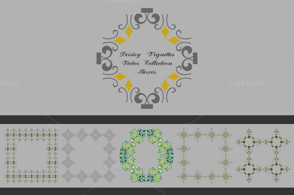 Derriey Vignettes Vector Boxes