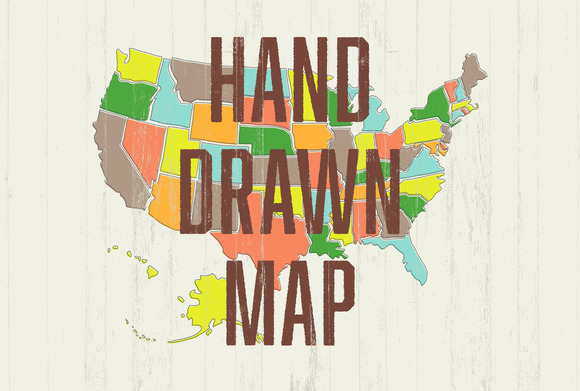 Hand Drawn US Map