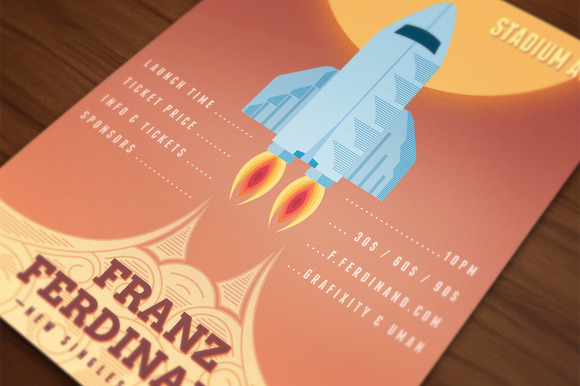 Launch Event Rocket Poster