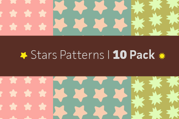 Stars Patterns 10 Pack