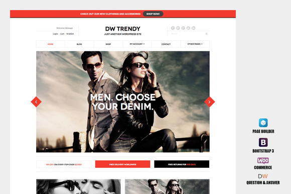 DW Trendy WooCommerce WP Theme