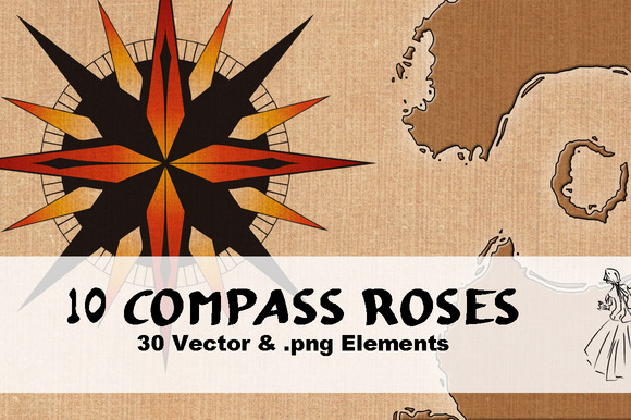 10 Compass Roses