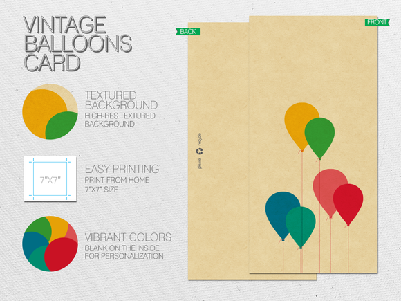 Vintage Balloons Card