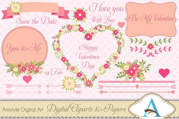 Valentine Flower Cliparts