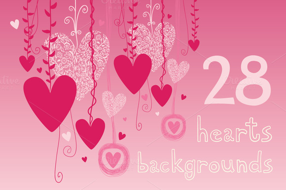 28 Hearts Backgrounds