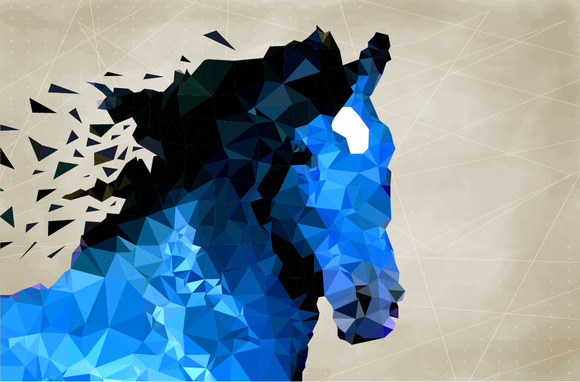 Abstract Horse Of Geometric Shape