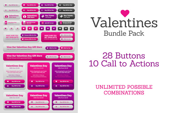 Valentines Day UI Bundle Pack