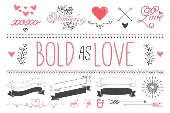 Bold As Love Valentine Vector Art
