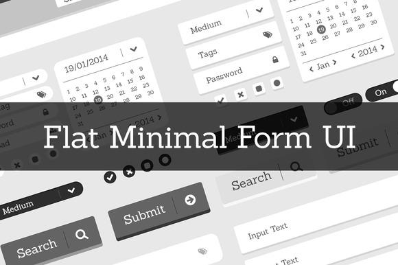 Minimal Flat Form UI