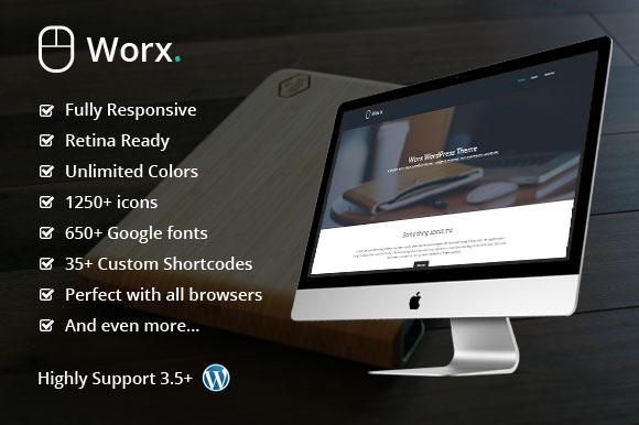 Worx Minimal Portfolio WP Theme