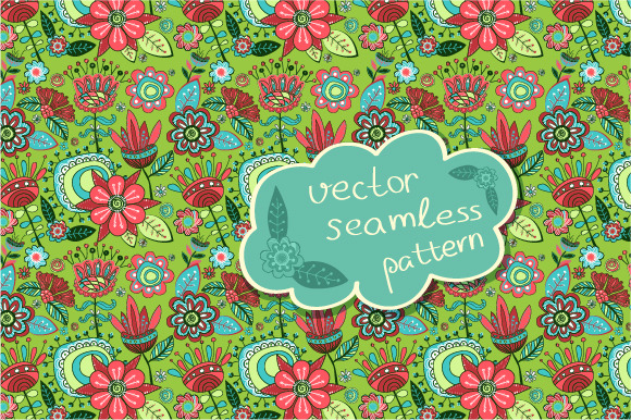 Seamless Pattern Magic Garden