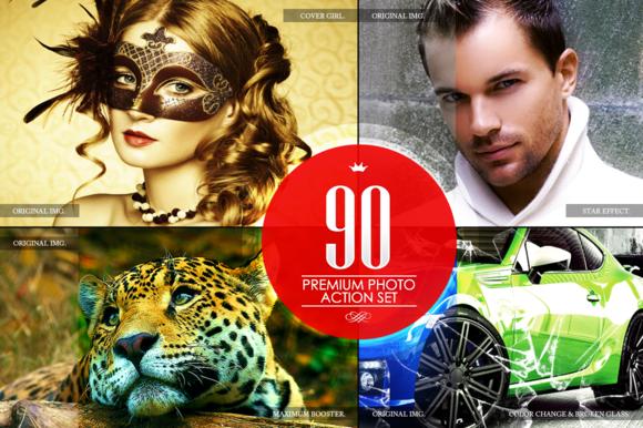 90 Premium Photoshop Actions