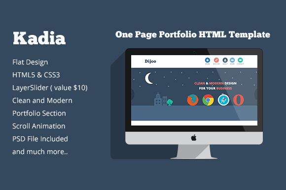 Kadia One Page Portfolio Template