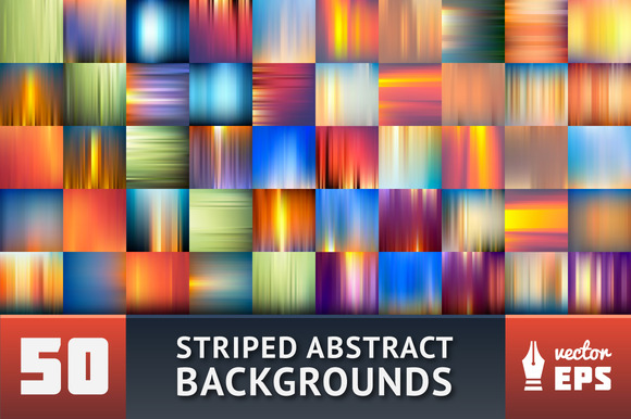 50 Striped Abstract Backgrounds
