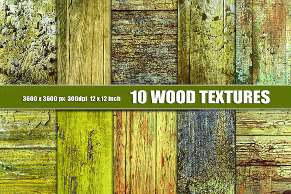 Old Green Wood Texture Background