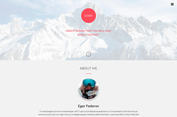 Responsive Onepage HTML Template