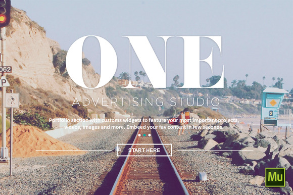 One Adobe Muse Theme