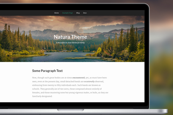 Natura Theme For Kirby CMS
