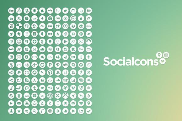 Vector Social Media Icons Circle