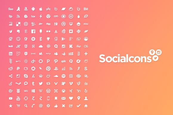 Vector Social Media Icons Isolated