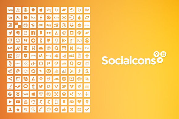 Vector Social Media Icons Square