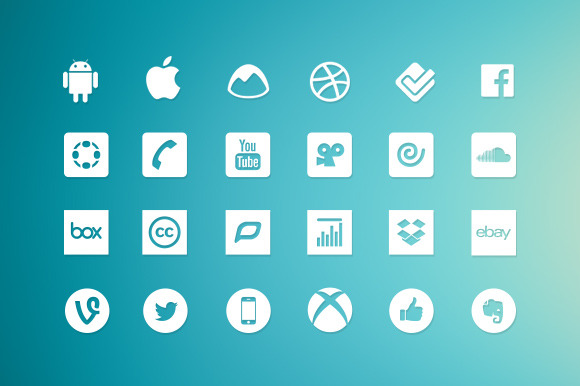 Vector Social Media Icons Bundle