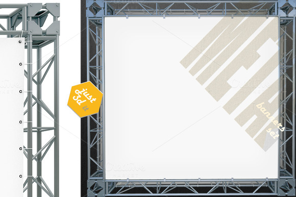 Blank Banners On Metal System