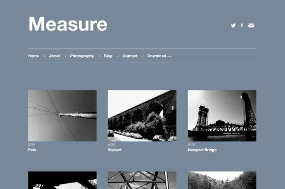 Measure Responsive WordPress Theme