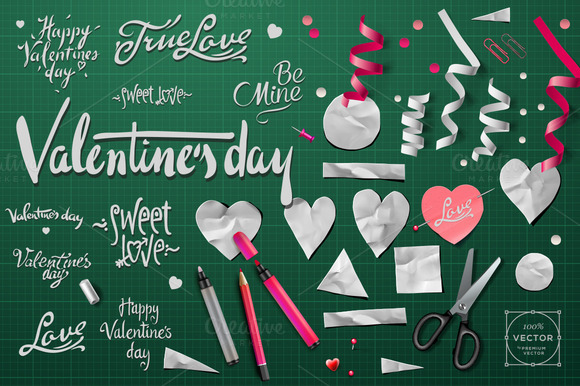 Vector Elements For Valentine S Day