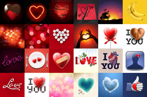 24 Vector Images About Love