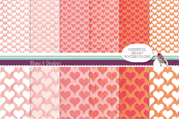 Cheerful Heart Watercolor Papers