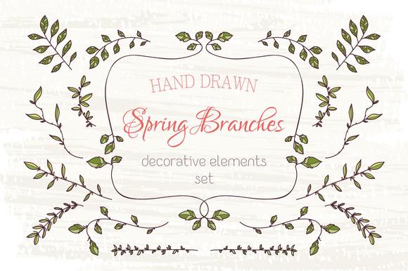 Branches Design Elements Set