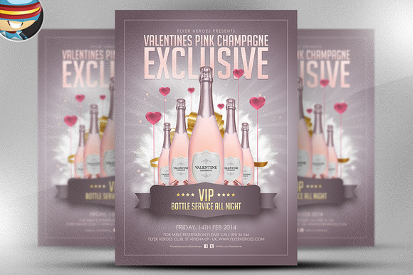 Valentine S Pink Champagne PSD