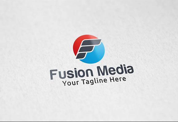 Fusion Media Logo Template